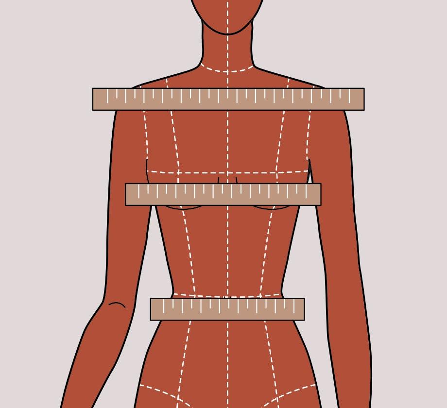 Maniquí mujer con medidas del cuerpo